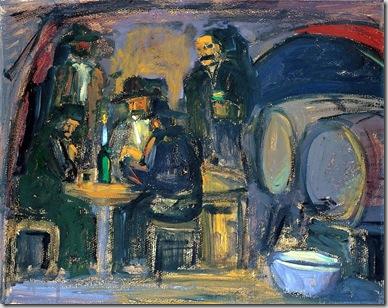 Beoni, olio su masonite, cm 70x50, 1950