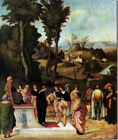 Firenze-Uffizi_Mosè bambino alla prova dei carboni ardenti