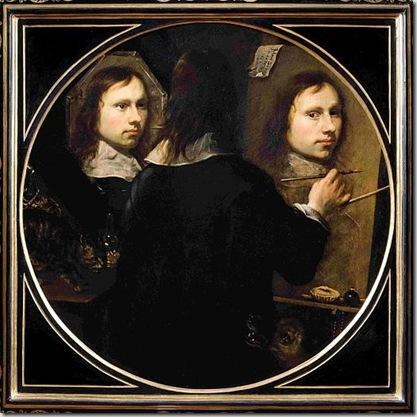 Johannes Wümpp -Gümpp, Innsbruck 1626-Firenze notizie fino al 1646- Autoritratto 1646 Dipinto su tela Firenze, Galleria degli Uffizi, Collezione degli Autoritratti