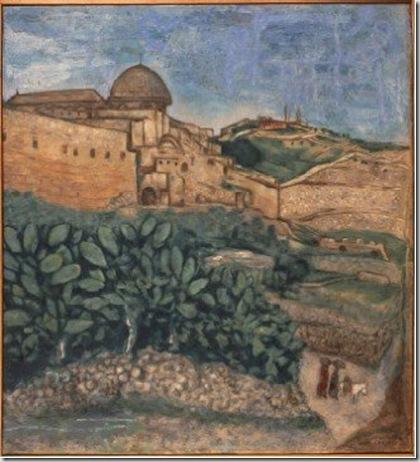 Marc Chagall, L'enceinte de Jérusalem près du portail de la grace, 1931 © by SIAE 2009