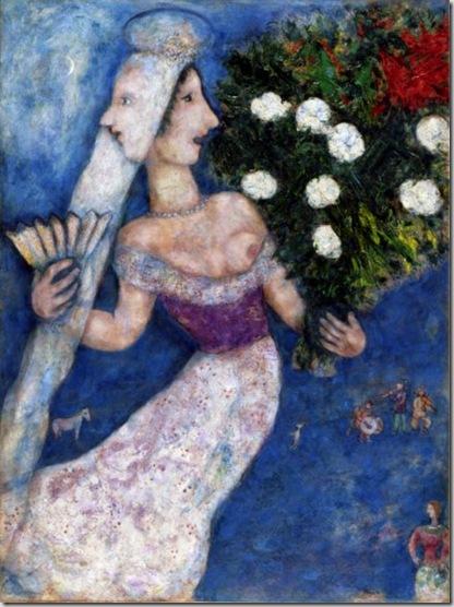 Marc Chagall, La mariée à double face, 1927 © by SIAE 2009