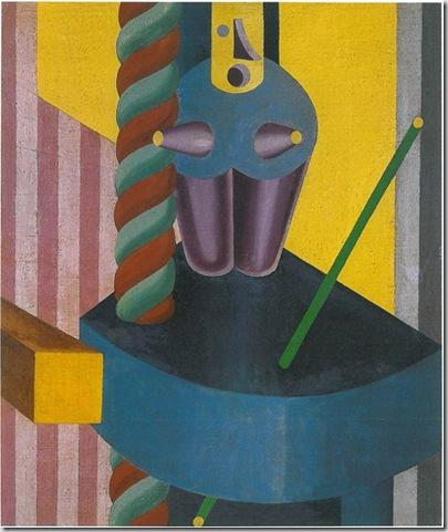 Fortunato Depero, Bambola blu, 1917