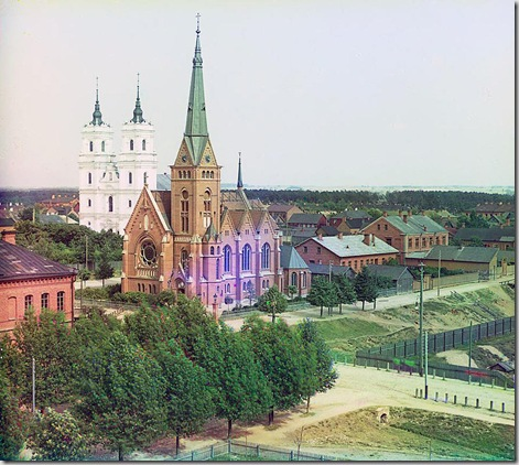 Dvinsk, Roman Catholic church; 1912 Sergei Mikhailovich Prokudin-Gorskii Collection (Library of Congress).
