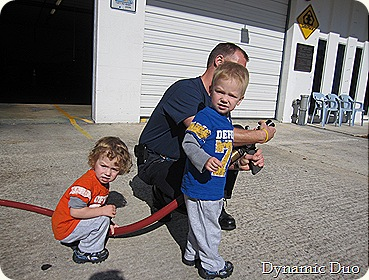 rals and gus firing the fireman's hose! (3)