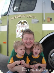 my three boys!  fire trucking (2)