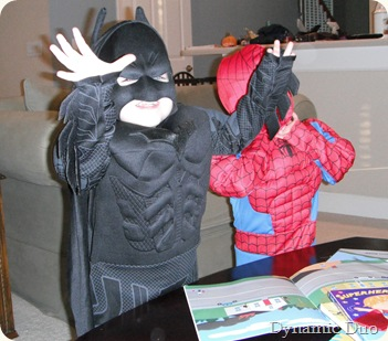 halloween morning skype call with batman and spikey (2)