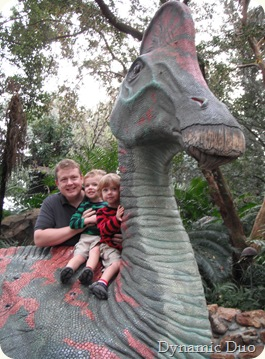my boys on dino - wishing so badly i had a decent camera!!!
