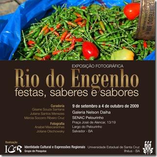 Convite - Rio do Engenho, festas, saberes e sabores 3