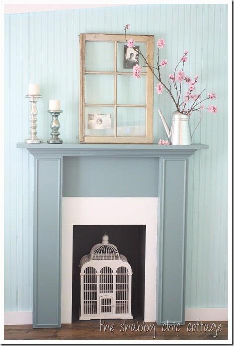shabby chic fireplace