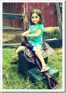 Mila chose the red saddle