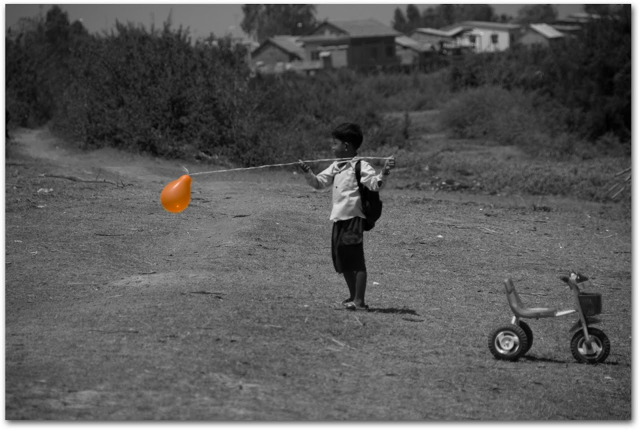 Boy with balloon