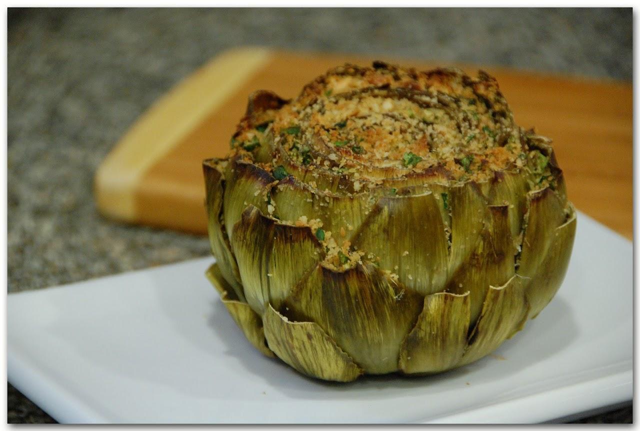 Carciofi ripieni (stuffed artichoke)