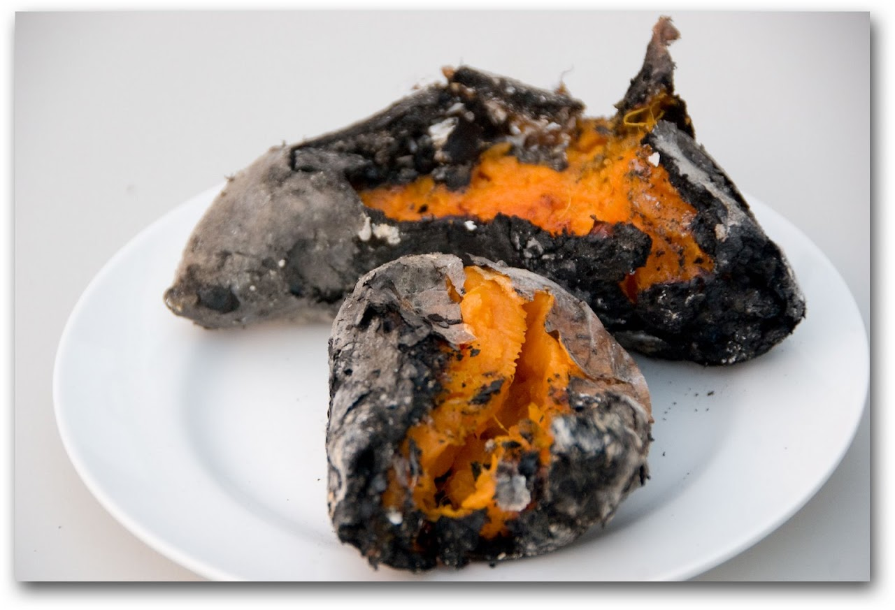 Fire-roasted sweet potato
