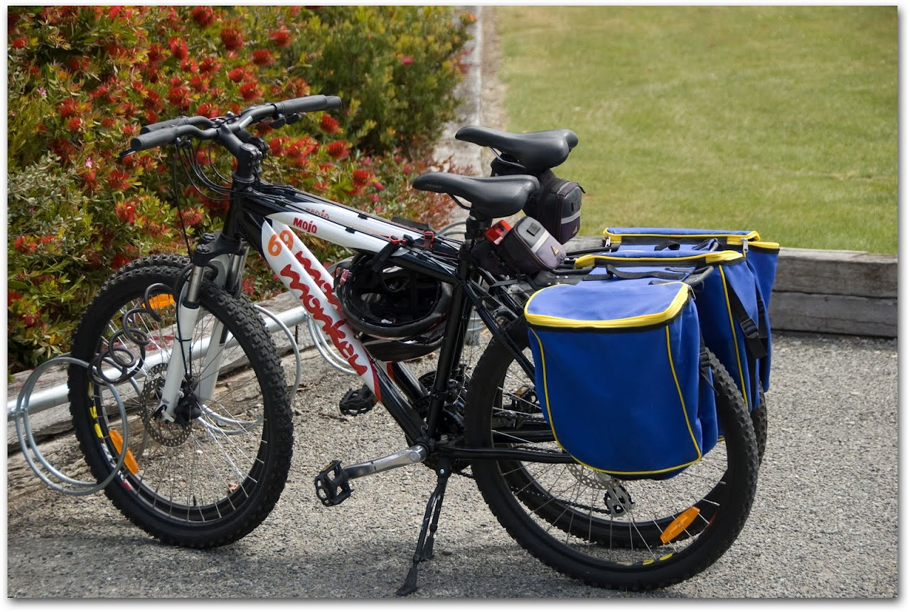 Bicycles with wine carriers