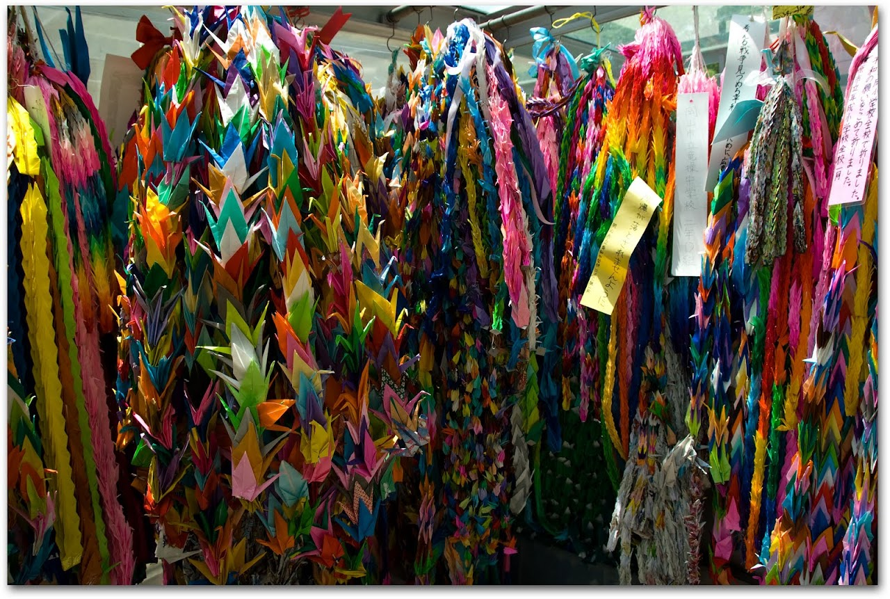 Paper cranes at Hiroshima