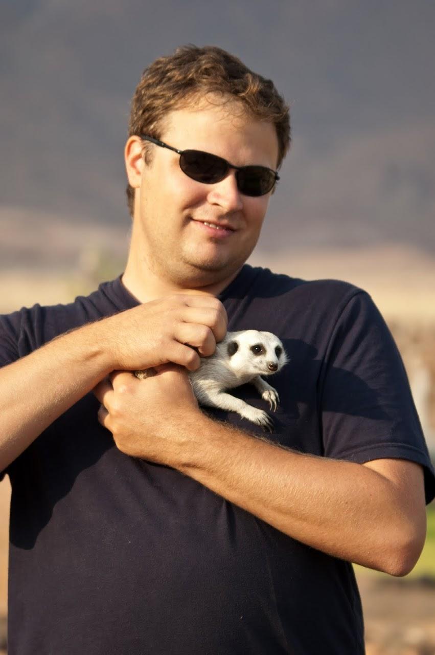 Patrick with meerkat