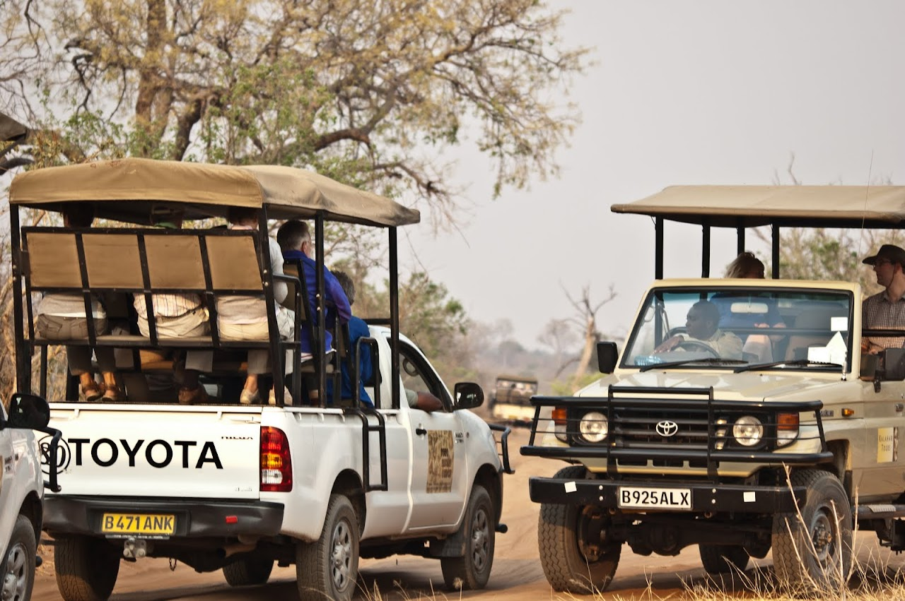 Trucks lined up in Chobe