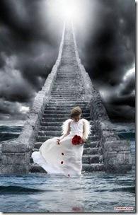 little girl on steps