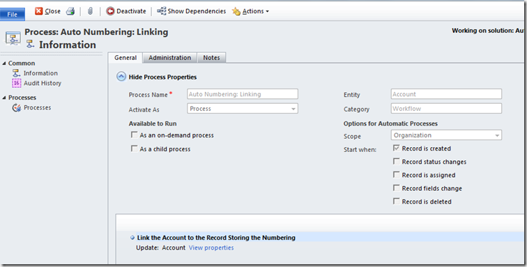 Leons CRM Musings AutoNumbering Using Workflow – Increment Form