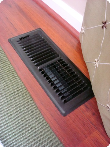 how i used oil rubbed bronze paint on our vents. Black Bedroom Furniture Sets. Home Design Ideas