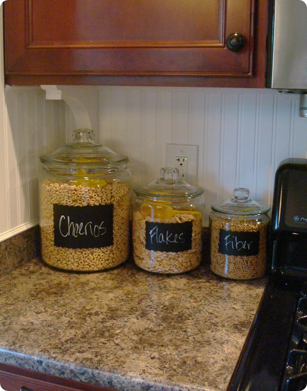 glass cereal jars