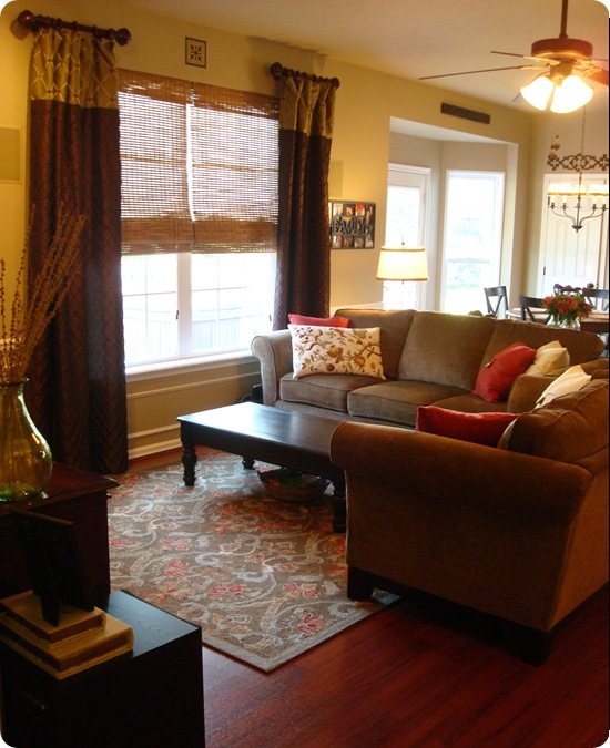 Our warm and cozy family room from thrifty decor chick for Cozy family room decorating ideas