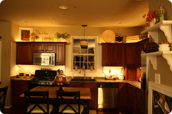 rope lights in kitchen