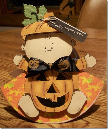 Pumpkin Baby Wobble Card