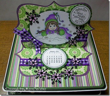 Winter Girl Easel Drawer Card2