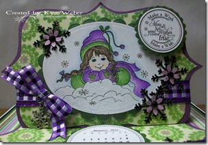 Winter Girl Easel Drawer Card