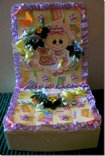 Baby Girl Easel Gift Box Card