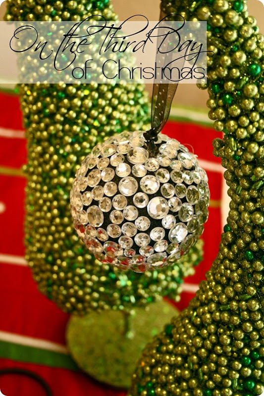 12 Days of Christmas - 3rd Day - Titled Jeweled Ornament - WhipperBerry