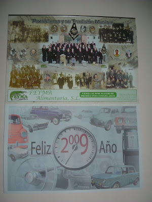 vista completa del calendario 2009 de FEYMA ALIMENTARIA