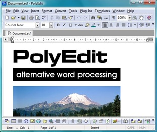 PolyEdit Lite is a free word processor