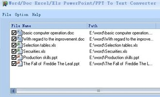Free Word Excel PowerPoint To Text Converter