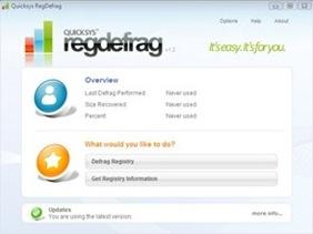 Free Quicksys RegDefrag for XP Vista Windows 7