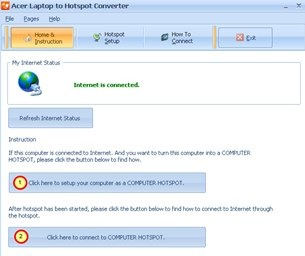 ASUS Laptop to Hotspot Converter