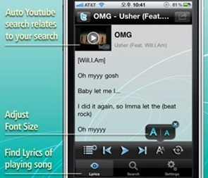 Lyrics for iPhone iPod Music