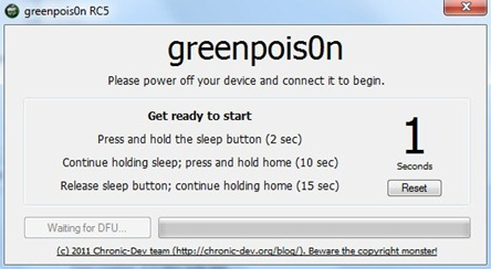 GreenPois0n iOS 4.2.1 Jailbreak