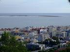 Vistes des del mirador de Sant Carles de la Ràpita. Al fons la punta de la Banya