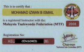 Taekwondo - Instructor
