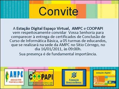 COnvite MIDEP Apodi Caubi