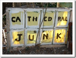 Cathedral of Junk sign