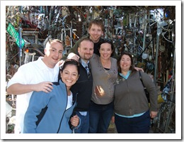 G, Mariana, Jer, John, Jenny & Michele at the Cathedral of Junk.