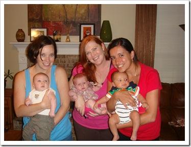 Jenny & Reid, Susan & Ava, Gretel & Cabo, 6-4-09