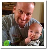 Reid & Daddy 9-8-09