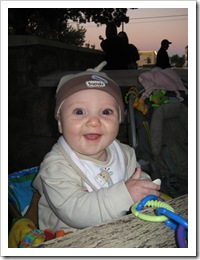 Reid enjoying date night on the patio of Z-Tejas, 10-16-09