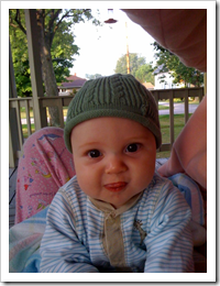 Reid on the porch for our morning quiet time with Momma
