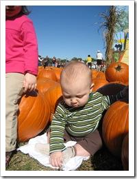 Reid at the pumpkin patch, 10-24-09