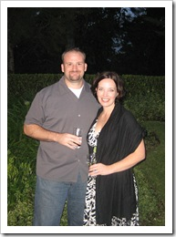 Cocktail party at Mariana's sister's home the first night, 11-8-09